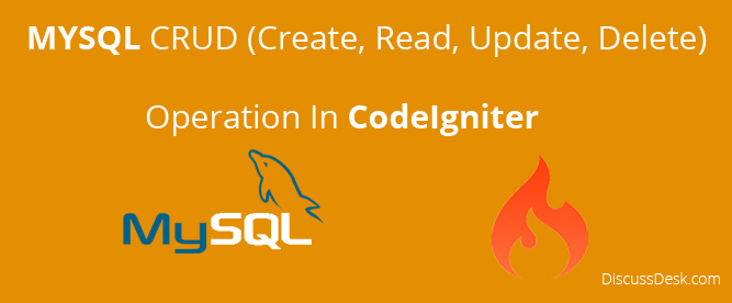 Simple Mysql CRUD Operation in CodeIgniter with Example