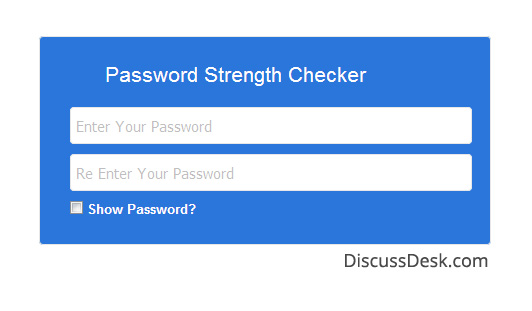 Password Strength Checker and Show Password in jQuery