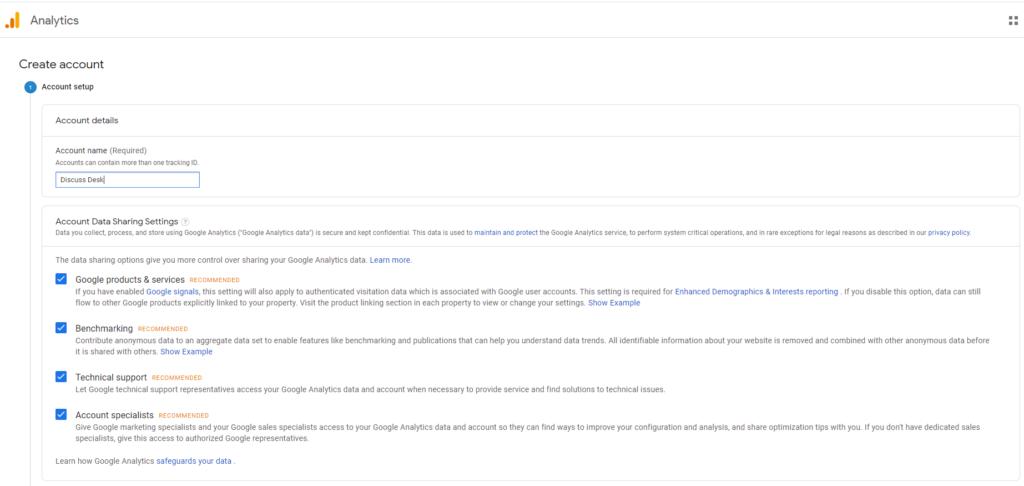 Google Analytics login image 1